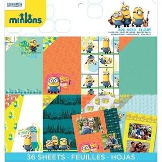 "Minions Paper Pad 12""X12"" 36/Pkg-12 Designs/3 Each"