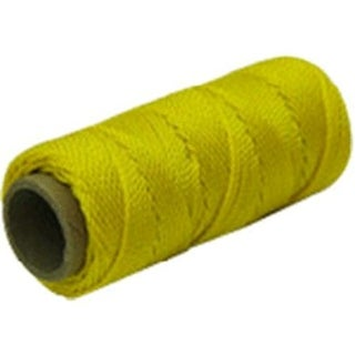 Marshalltown ML590 Fluorescent Twisted Nylon Mason's Line 1000', Yellow