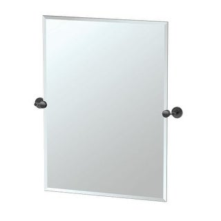 "Gatco 42.9S Latitude ll 23-1/2"" x 31-1/2"" Beveled Frameless Rectangular Tilting Wall Mirror"