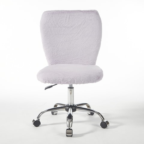 Urban Shop Super Soft Faux Fur Adjustable Office Task Chair