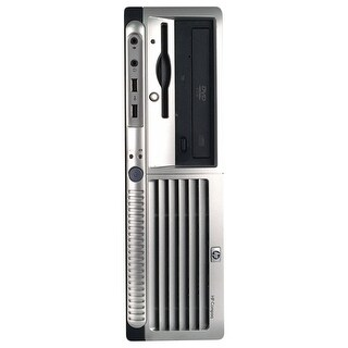 HP DC7700 Desktop Computer SFF Core 2 Duo E6300 1.86G 2GB DDR2 80G Windows 10 Pro 1 Year Warranty (Refurbished) - Silver