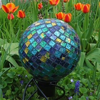 Link to Sunnydaze Mosaic Glass Gazing Globe Ball 10 Inch Blue - Set of 2 Similar Items in Outdoor Decor