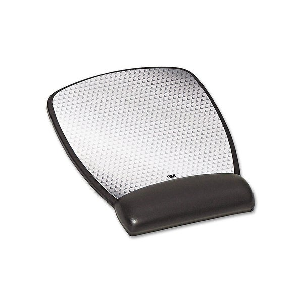3M Mobile Interactive Solution Mw309le Precise Leatherette Mousepad W/Wrist Rest