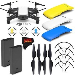 Ryze Tech Tello Quadcopter #CP.PT.00000252.01 + Ryze Tech Snap-On Cover for Tello (Blue) Bundle