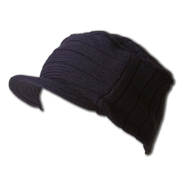 87ae2910c01ef Shop Navy Winter Flat Top Jeep Cap Hat - Navy - Free Shipping On Orders  Over  45 - Overstock - 20669338
