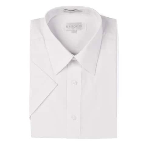 Marquis Men's Short Sleeve Slim Fit Dress shirt - S to XXL