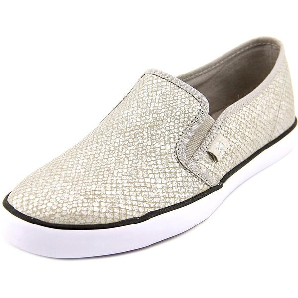 G By Guess Malden 6 Women  Round Toe Canvas Silver Loafer