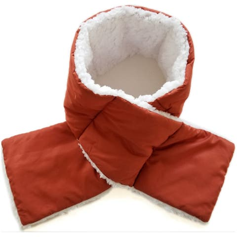 Women's Soft Sherpa Lined Pull Through Puffy Scarf - One Size