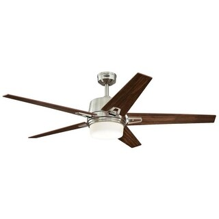 Westinghouse 7204600 Zephyr 2 Light 5 Blade LED Hanging Ceiling Fan with Reversible Blades, Light Kit, Remote Control and