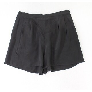 Eileen Fisher Black Women's Size Small S Pleated Shorts Silk