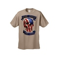 Men's T-Shirt USA Flag Skull Live Free Or Die Stars & Stripes Skeleton Bones Tee - Thumbnail 4