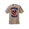 Men's T-Shirt USA Flag Skull Live Free Or Die Stars & Stripes Skeleton Bones Tee - Thumbnail 4