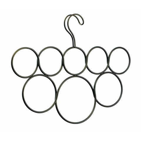 InterDesign 06731 Classico Scarf Holder, Bronze, 8 Loops