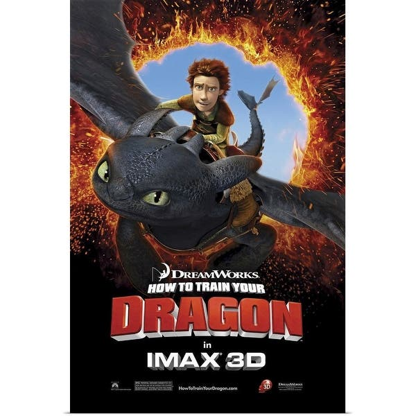 Shop Black Friday Deals On How To Train Your Dragon 2010 Poster Print Overstock 24135167