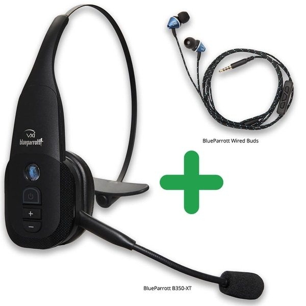 2043efcabfb Shop VXi BlueParrott B350-XT Bluetooth Headset 203475 with Wired Ear ...
