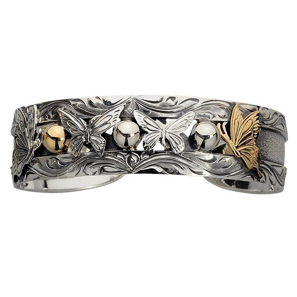 Vogt Western Womens Bracelet Sterling Butterflies Silver Gold 014-131 - silver gold