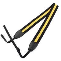 SHETU Authorized Camera Anti-slip Shoulder Neck Strap Belt Yellow Black for DSLR