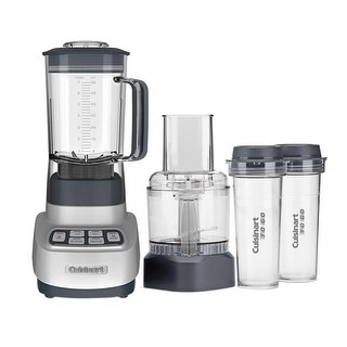 Cuisinart BFP-650 VELOCITY Ultra Trio 1 HP Blender/Food Processor, With Travel Cups, Silver