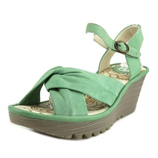 Fly London Mouse Open Toe Leather Wedge Sandal