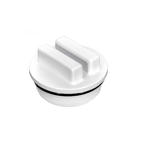 """1.5"""" White Raised Winter Plug MPT with O-Ring"""