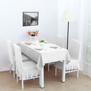 Stretch Dining Room Chair Covers Seat Protector (Option: White)