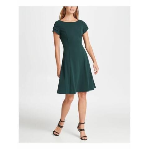 DKNY Green Petal Sleeve Above The Knee Dress 8