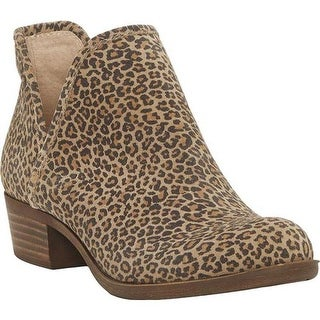 Lucky Brand Women's Baley Bootie Eyelash Sophia Leopard Leather