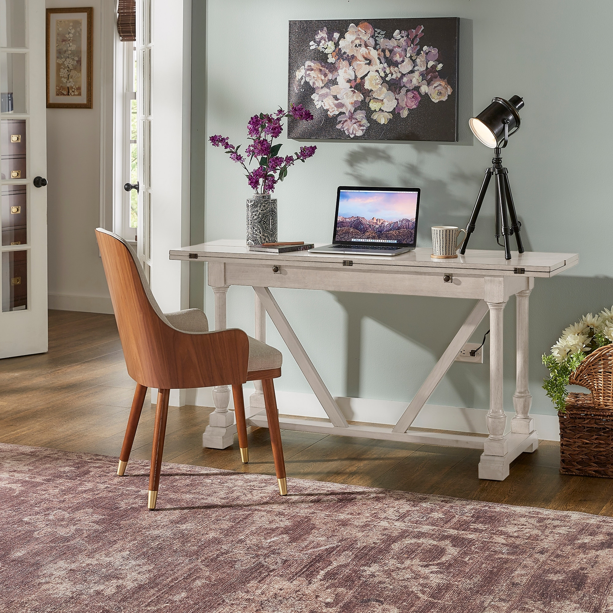 Edmaire Convertible Dining Table And Office Desk By Inspire Q