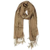 Shiny Glitter Shawl Wrap Scarves with Tassel for Women Men Coffee