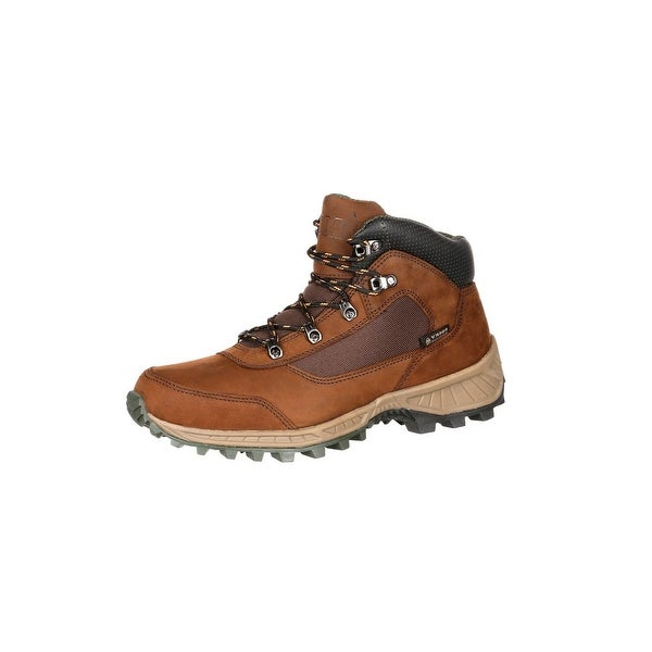 Rocky Outdoor Boots Men Stratum Waterproof Hiker Lace Up Brown