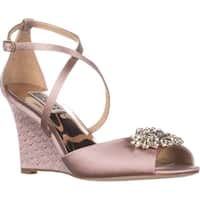 Badgley Mischka Abigail Dress Wedge Sandals, Blush