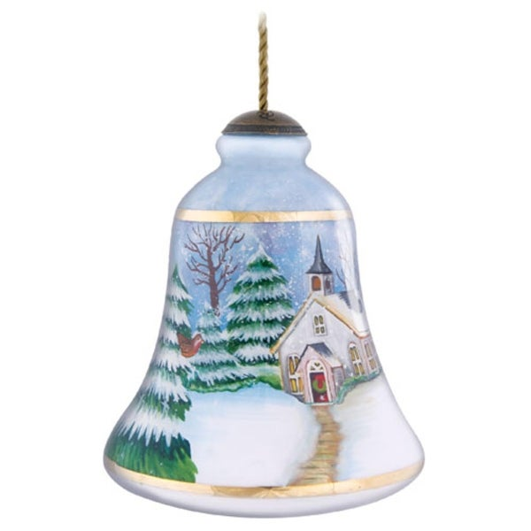 "4"" Ne'Qwa ""Blessings Of Hope"" Hand-Painted Glass Christmas Ornament #7131106 - multi"