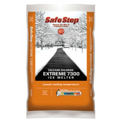 Safe StepA 50820 Extreme 7300 Calcium Chloride Ice Melter, 20 Lb