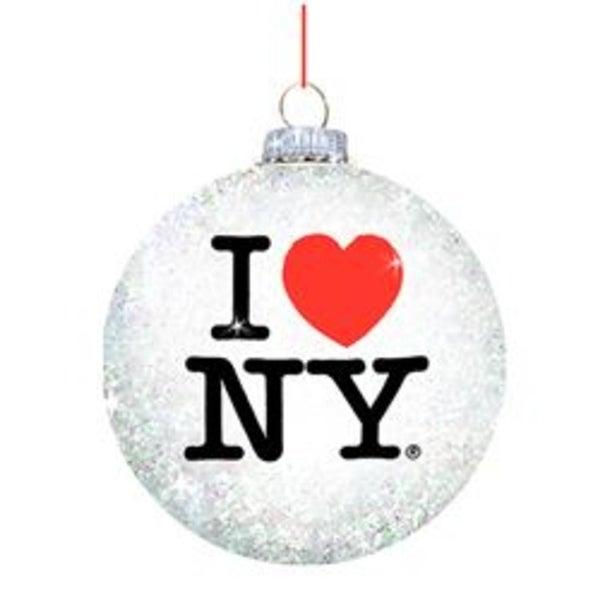 pack of 8 white and black i love ny gay pride glass ball ornaments - Gay Pride Christmas Decorations