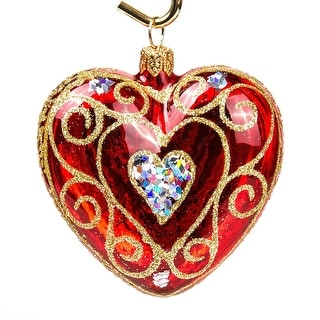 Link to STP Goods  Openwork Heart Glass Christmas Ornament Similar Items in Christmas Decorations