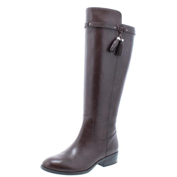8fed21ed9e4 Lauren Ralph Lauren Womens Marsalis Riding Boots Leather Wide Calf - 6  medium (b