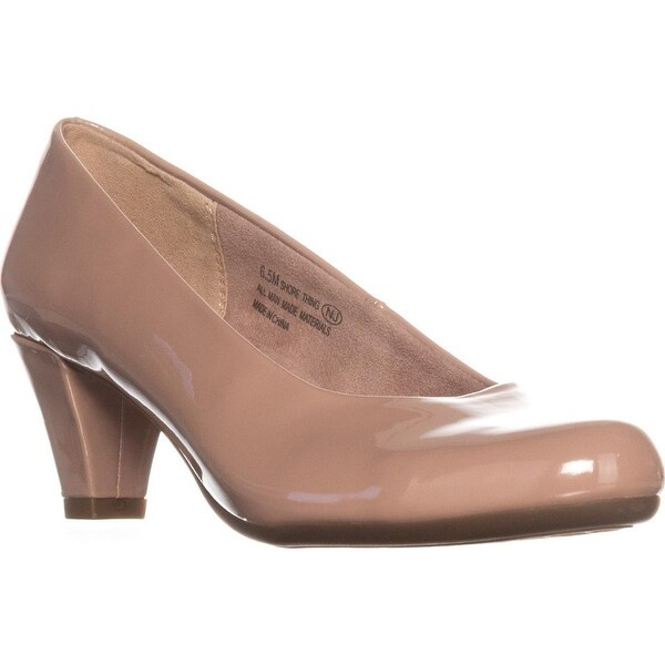 Aerosoles Shore Thing Classic Kitten Heel Pumps, Nude Patent - 6.5 us