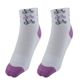 R-BAO Authorized Travel Cotton Blend Compression Cycling Socks White Pair