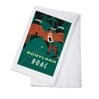 BOAC - Scotland c. 1963 - Vintage Advertisement (100% Cotton Towel Absorbent)