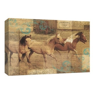 """PTM Images 9-154080  PTM Canvas Collection 8"""" x 10"""" - """"Wild Horses I"""" Giclee Horses Art Print on Canvas"""