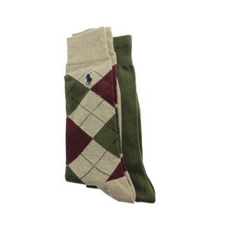 Polo Ralph Lauren Mens 2PK Argyle Dress Socks - 10-13