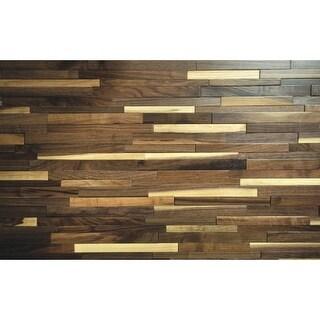 "Sierra Buttes - 9-1/2"" x 53"" Rectangular Engineered Walnut Wood Paneling - Sold by Carton (18.8 SF/Carton) - N/A"