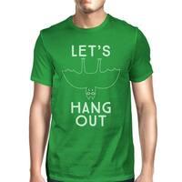 Let's Hang Out Bat T-Shirt Mens Green Halloween Costume Tshirt Gift