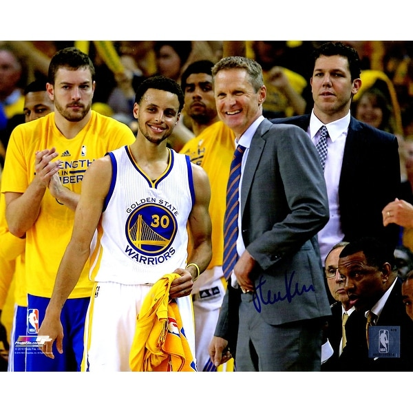 Steve Kerr Golden State Warriors Standing With Stephen Curry 8x10 Photo