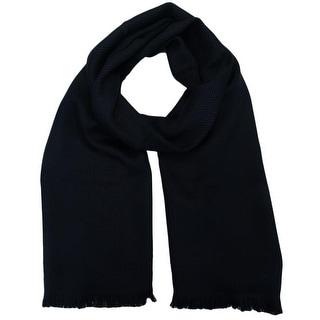 Versace SC48 STCK 001 100% Wool Navy Blue Mens Scarf