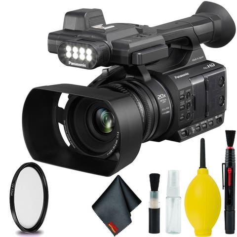 PanasonicAG-AC30 Full HD Camcorder with Touch Panel LCD Viewscreen and Built-In LED Light