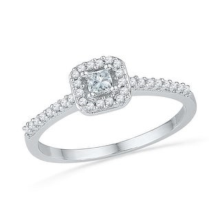 1/4Ctw Diamond Fashion Ring White-Gold 10K