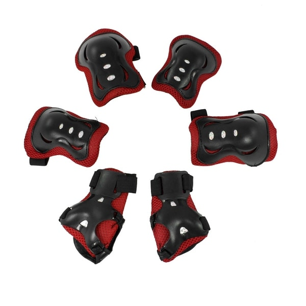 6 in 1 Children Skating Cycling Wrist Guard Knee Brace Elbow Pad Protective Gear Set