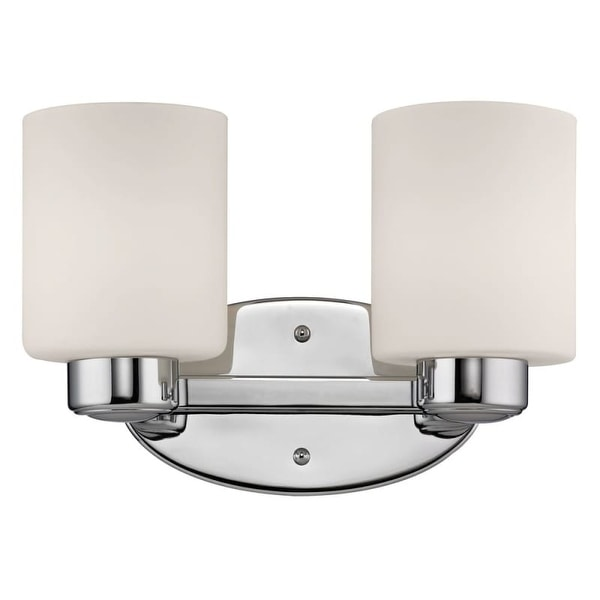 "Dolan Designs 3432 11.75"" Wide Reversible Two Light Wall Sconce from the Fontana Collection"