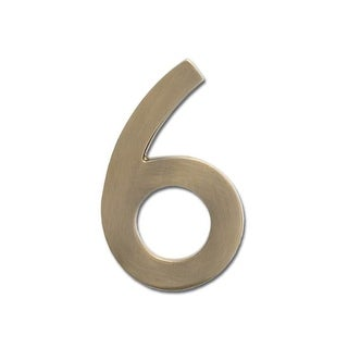 Architectural Mailboxes 3585-6 5 Inch Solid Cast Hand Finished Brass House Numbers